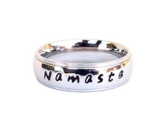 Namaste- Ring Meditation Yoga Ring Inspirational Gift