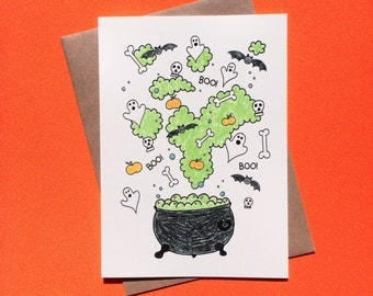 Witches Brew. Halloween Card.