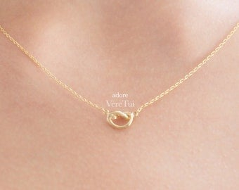 Petite Dainty Gold Infinity Knot Romantic Necklace
