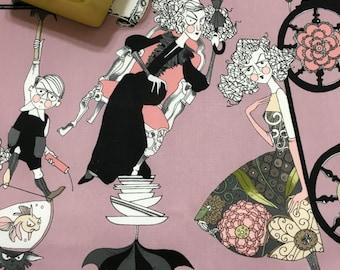 Spooky Halloween Dish Mat, Kitchen Towel, Black Pink Gray, Haunted House Decor, Ghastlier Desk Mug Rug, Pink Black Fabric, Coffee Maker Mat