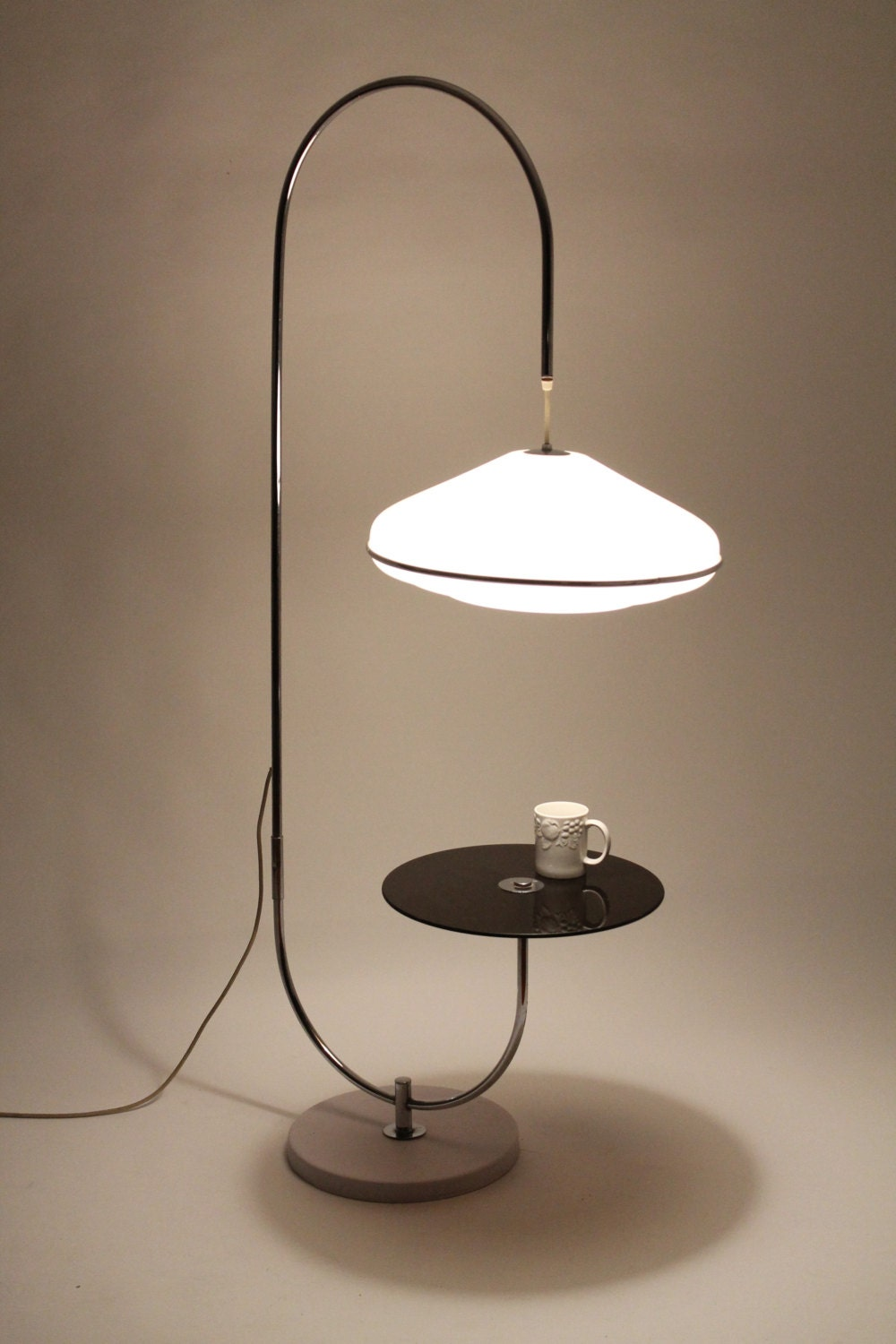unique table lamp minimalist modern vintage mid century 1970