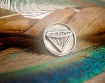 Diamond Sigil Hair Tie ~ Sterling Silver ~ Dwarf LARP ~ Beard Bead