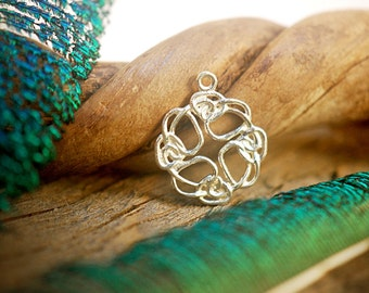 Celtic Knot Charm ~ Sterling Silver Pendant