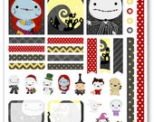 Nightmare Jack Decorating Kit / Weekly Spread Planner Stickers for Erin Condren Planner, Filofax, Plum Paper