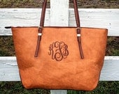 NEW COLOR!  Monogram Purse Bag Tote/ Monogram Camel Brown Pocketbook, Brown monogram purse/ Classic Black purse/ Designer Inspired Tote/