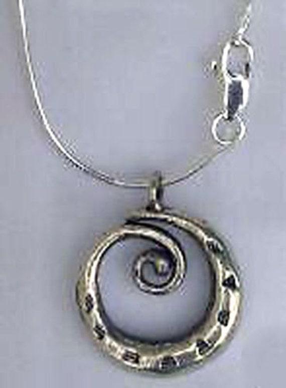 pmc 999 silver thai swirl pendant sterling