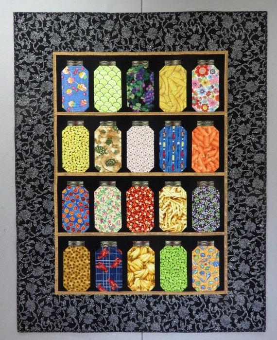 Canning Jars Lap/Throw Quilt Novelty Food Fabrics