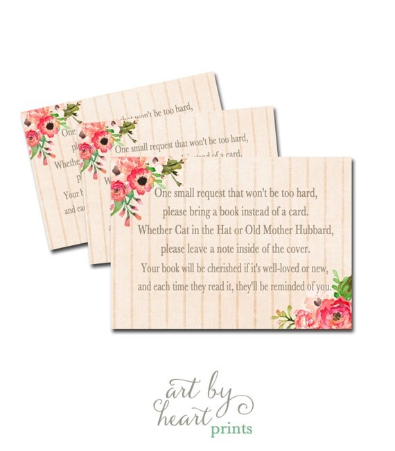 baby shower book request book request card baby shower printable