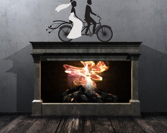 Bicycle Wall Decal Etsy - Cycling custom vinyl decals for car