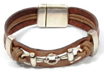 brown snaffle bit bracelet, country girl jewelry, country western jewelry, equestrian jewelry, cowgirl jewelry, horse bracelet