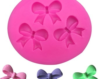 bow silicone mold - 3 cavity