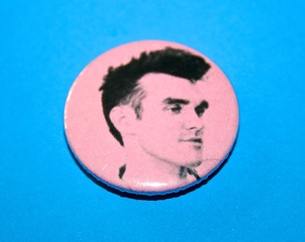 The Smiths Morrissey Pink Button Pin Badge