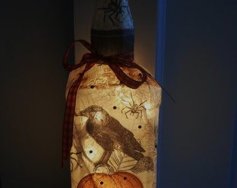Halloween Lamp/Halloween Decor/Fall Decor/Halloween Pumpkin Light/Home Decor/Spider Decor/Halloween Accent Lamp