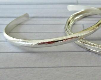 Silver hallmarked cuff, Hammered silver cuff, Silver cuff bracelet, Sterling silver cuff, Hand forged silver cuff,  Made in the UK
