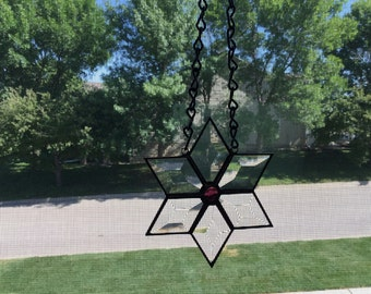Stained glass beveled star