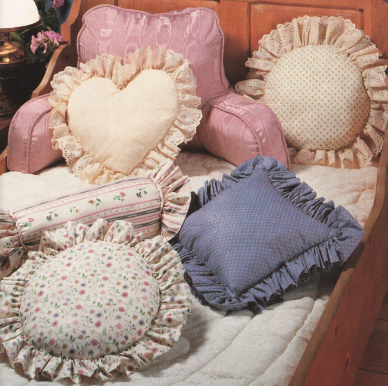 Decorative Neck Roll Pillow Pattern : Shabby Chic Pillows Pattern Heart Pillow Neck Roll Pillow