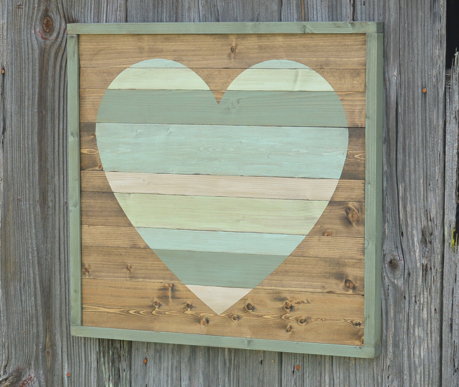 Rustic heart wall decor : Rustic home decor large pallet heart by whiteaspenstudio