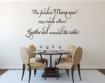 Popular items for dining room decals on etsy for Best dining room quotes