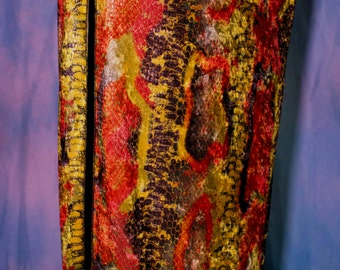 Straight Skirt with reptile like scales and bright colors
