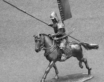 Medieval Knight Toy Soldiers 1/32 Scale Japanese Samurai Messenger Takeda  54mm Tin Metal Miniature Action Figurine