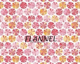 Pink Flannel Fabric, Riley Blake Flannel F4062 Pinwheels, Fancy Free Flannel, Baby Quilt Flannel, Baby Girls Flannel, Pink Cotton Flannel