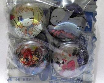 4pk Manga Glass Magnents