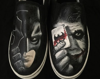 Batman Joker Painted Shoes