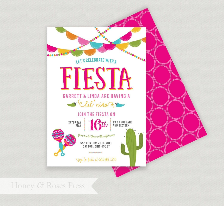 fiesta baby shower invite fiesta shower mexican themed