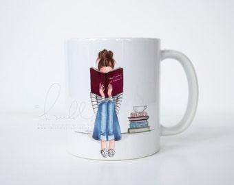 The Fine Art of Staying In (Fashion Illustration Mug)