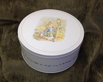 Peter Rabbit Tin, Commemorative Peter Rabbit Tin, 1893-1993, Beatrix Potter Tin, Commemorative Tin, Rabbit Tin, Peter Rabbit