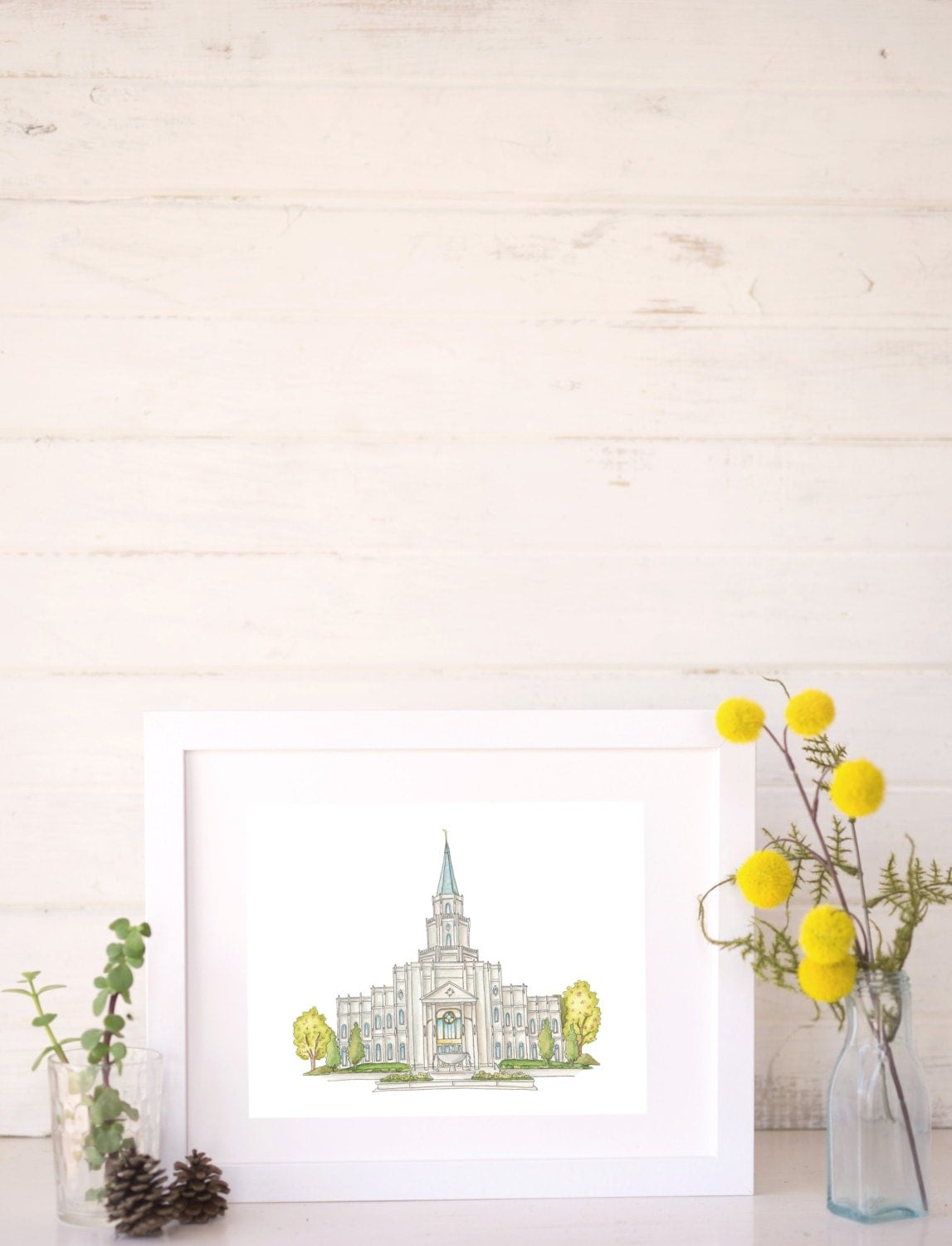 Lds temple ornaments - Houston Texas Lds Temple Water Color Painting