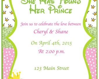 Frog Prince Bridal Shower Invitation