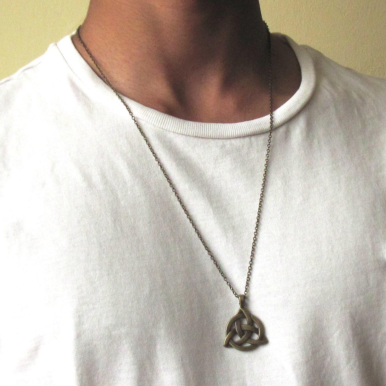 celtic knot necklace men 39 s bronze necklace mens by baronykajd. Black Bedroom Furniture Sets. Home Design Ideas