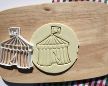 Circus Tent Cookie Cutter Circus Cookie Cutter Cupcake topper Fondant Gingerbread Cutters Christmas Gift Idea