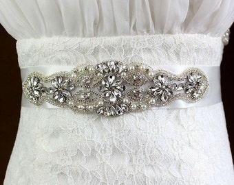 Bridal Wedding Sash (White)