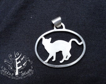 Custom Cat Donation silhouette necklace