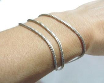 Italian Sterling Silver Multi Strand Bracelet
