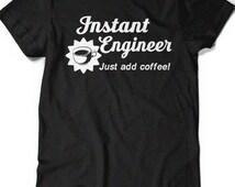 Funny Engineer Shirt T Shirt Tees Mens Ladies Women Birthday Gift Present Engineering Dad Father Husband Boyfriend Graduate Ninja Enginerd
