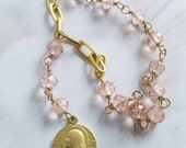 Chaplet - Pink Crystal St Mary Magdalene Chaplet