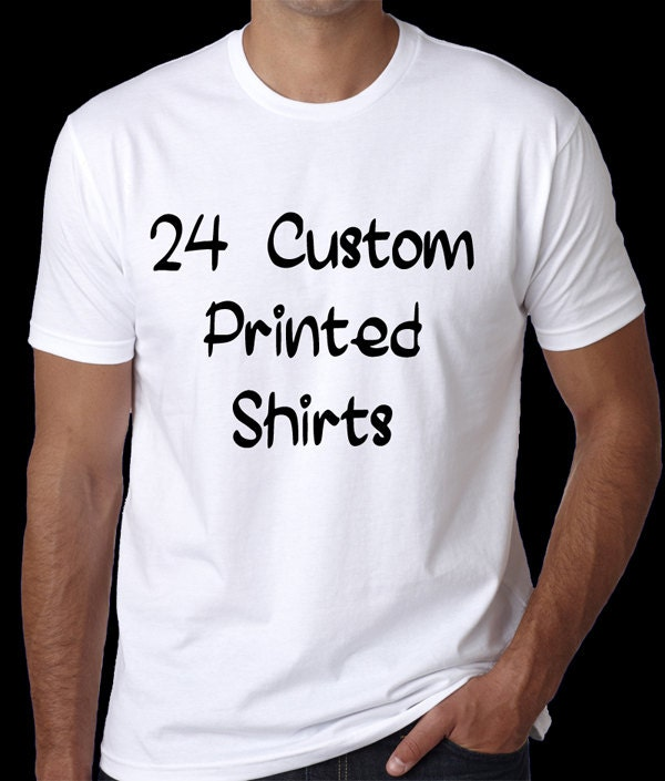 24 custom personalized shirts bulk t shirt orders wholesale