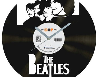The Beatles vinyl clock v2