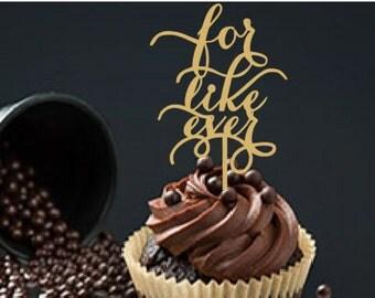 Custom cupcake topper for Lindsey