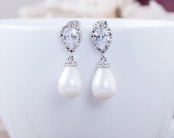 Bridal | Harlow Pearl Earrings
