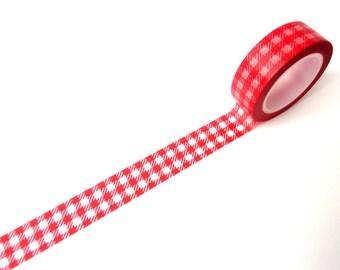 Washi Tape red squares