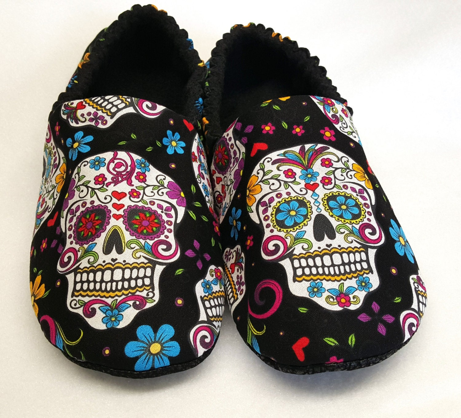ADULT Sugar Skull Slippers - My Sugar Skulls