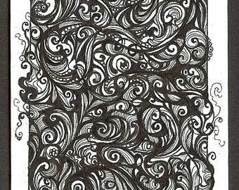Consistant Swirl, ATC- ACEO Trading Card, OOAK