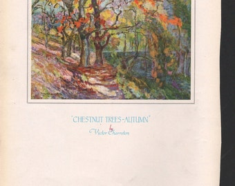 Chestnut Trees - Autumn, art by Victor Charreton  - PD000868