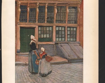 Returning from Market, from the water colour by H Cassiers; The Studio magazine - PD000891