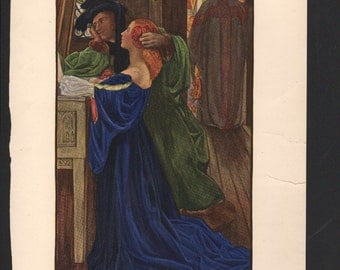 I Have Married A Wife and Therefore I Cannot Come; art by Eleanor Fortescue-Brickdale, dated 1900 - The Studio Magazine - PD000931