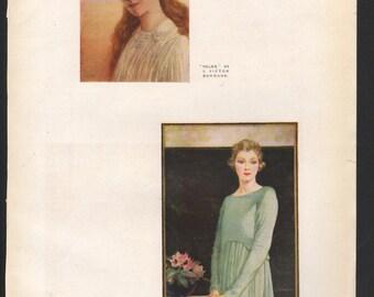 Helen, by J Victor Burnand; The Jade, by J Lankester Brisley; The Studio Magazine - PD000951